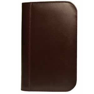 Aston Leather Collector's 10 Pen Case - Brown