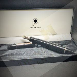 Penlux Masterpiece Grande Black Fountain Pen (f)