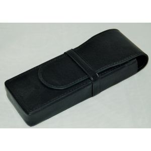 Aston Leather American Style 3 Pen Box Black