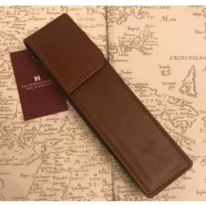 Single Tan leather Pen case