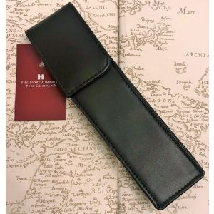 Single Black leather Pen Case