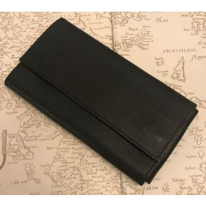 3 X Pen Black Leather Flap Case