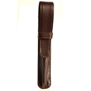 Aston Leather Brown Leather 1 Pen Case