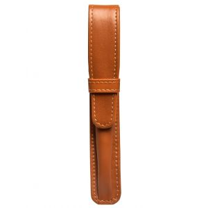 Aston leather Tan Leather 1 Pen Case