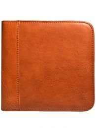 Aston Leather Collector's 6 Pen Case - Tan